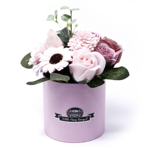 Peaceful Pink Soap Bouquet Petite Gift Pot